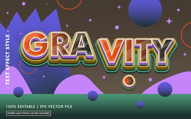 Modèle d'effet de texte de gravité