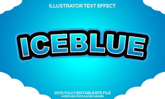 Modèle d'effet de texte iceblue