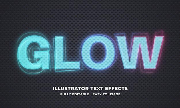 Modèle d'effet de texte lumineux