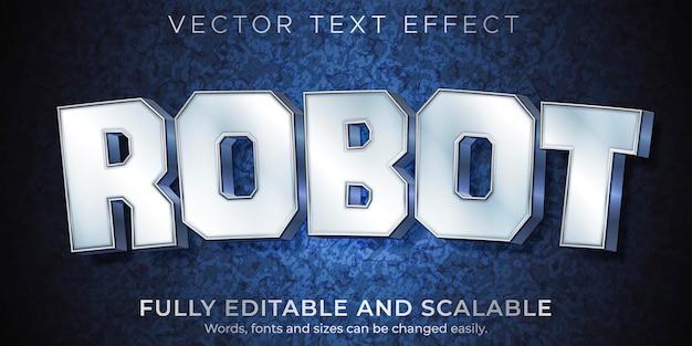Modèle d'effet de texte métallique robot