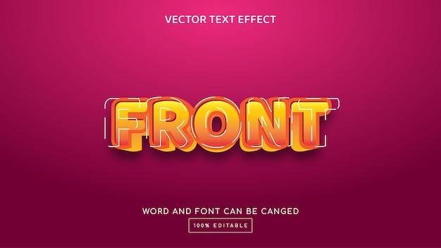 Modèle d'effet de texte modifiable en 3d avant