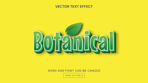 Modèle d'effet de texte modifiable en 3d botanique