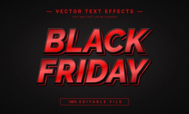Modèle d'effet de texte modifiable black friday 3d