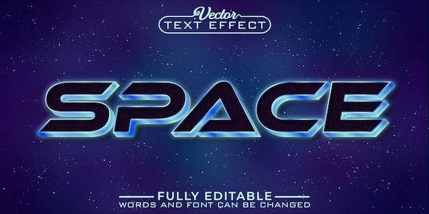 Modèle d'effet de texte modifiable dans l'espace