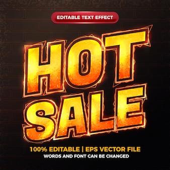 Modèle d'effet de texte modifiable de feu de boulon de vente chaude
