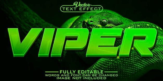 Modèle d'effet de texte modifiable green viper
