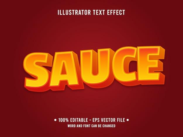 Modèle d'effet de texte modifiable style de sauce épicée orange