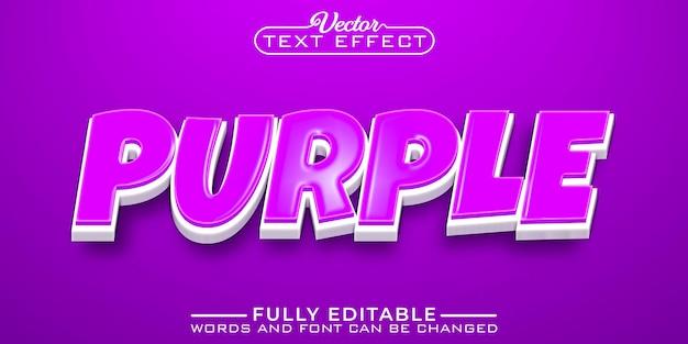 Modèle d'effet de texte modifiable violet de dessin animé