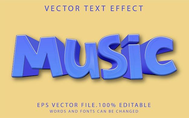 Modèle d'effet de texte musical