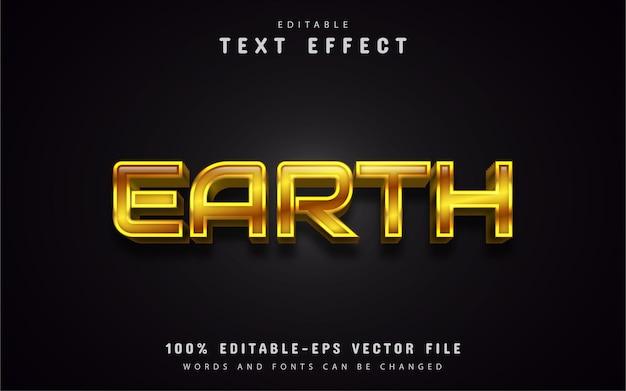 Modèle d'effet de texte or