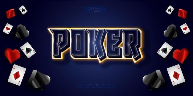 Modèle d'effet de texte de poker