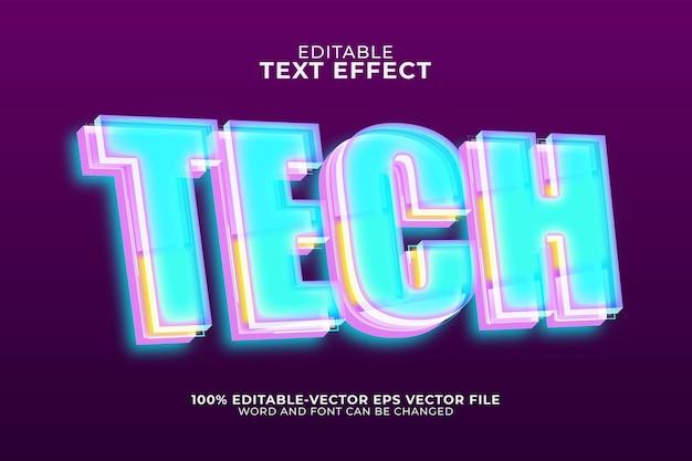 Modèle d'effet de texte de technologie