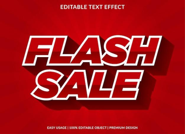 Modèle d'effet de texte vente flash avec style gras 3d