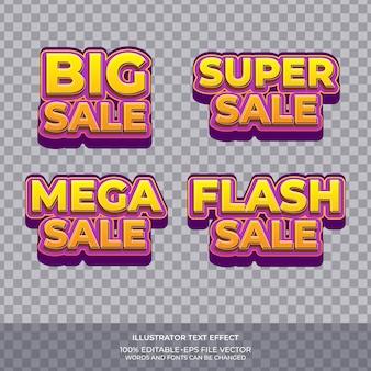 Modèle d'effet de texte de vente flash
