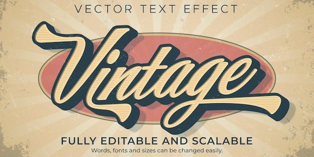 Modèle d'effet de texte vintage rétro
