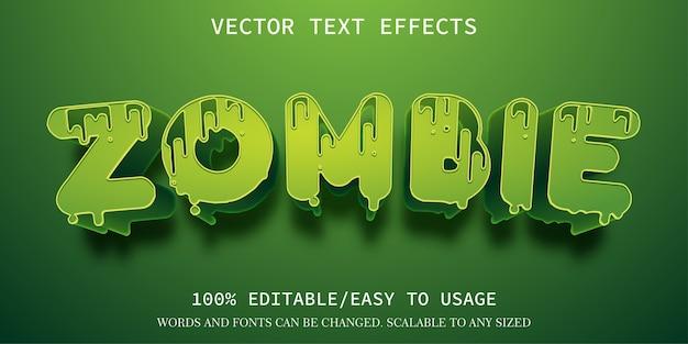 Modèle d'effet de texte zombie