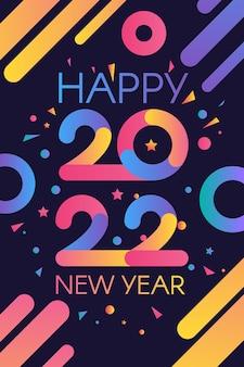 Modèle élégant de bonne année 2022 avec du texte dans des thèmes de couleurs dégradées lumineuses