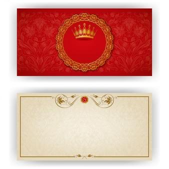 Modèle élégant pour invitation de luxe vip