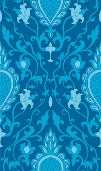 Modèle élégant turquoise pour papier peint, textile.