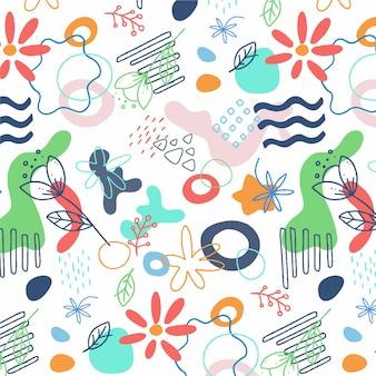 Modèle d'élément abstrait design plat organique