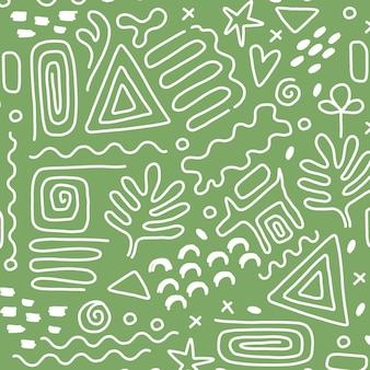 Modèle d'élément abstrait dessiné à la main