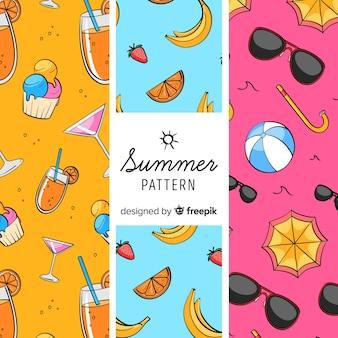 Modèle d'élément coloré de l'été