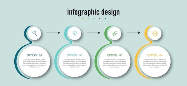 Modèle d'élément de conception infographique de la chronologie