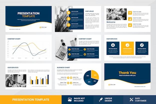 Modèle d'élément infographique de conception de présentation d'entreprise