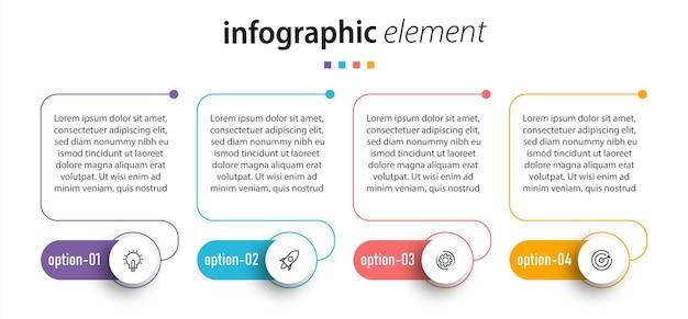 Modèle d'élément infographique de graphique chronologique.