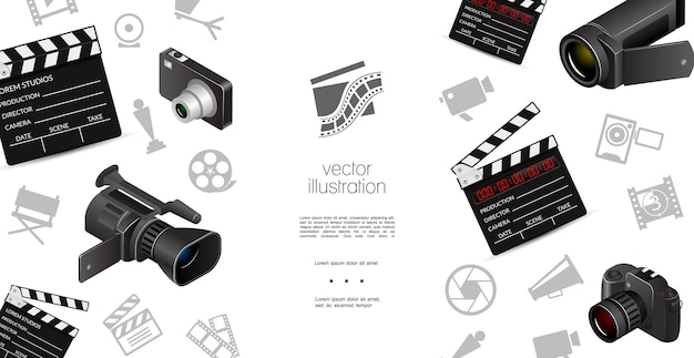 Modèle d'éléments cinématographiques