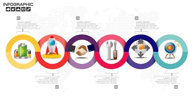 Modèle d'éléments commerciaux infographique.