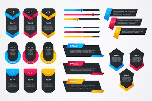 Modèle d'éléments de conception infographique