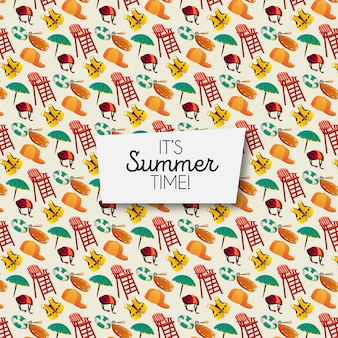 Modèle d'éléments d'été