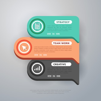 Modèle d'éléments d'infographie