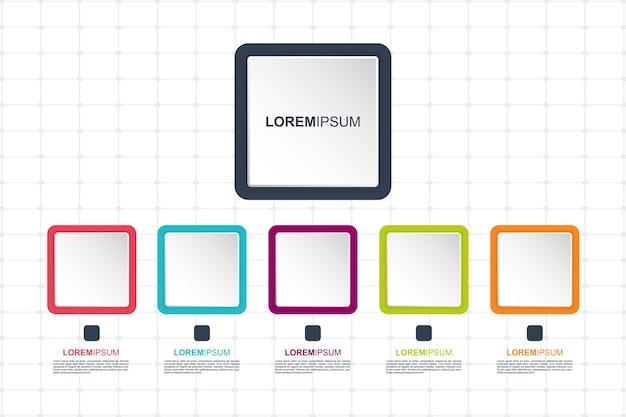 Modèle d'éléments infographiques. charte graphique pour les entreprises