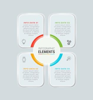 Modèle d'éléments infographiques commerciaux