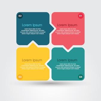 Modèle d'éléments infographiques