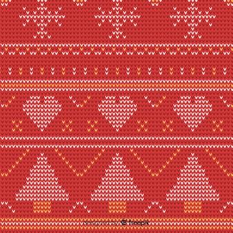 Modèle d'éléments tricotés de noël