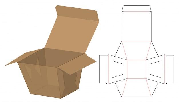 Modèle d'emballage de boîte découpée