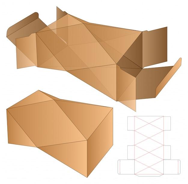 Modèle d'emballage découpé à la forme