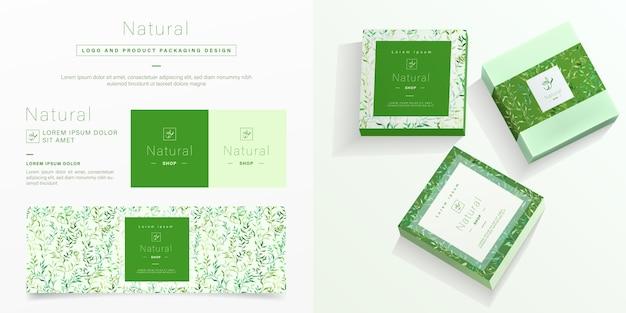 Modèle d'emballage naturel.