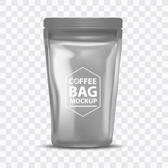Modèle d'emballage de sac de café en feuille vierge