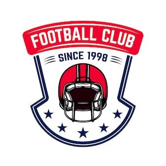 Modèle d'emblème de football américain