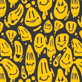 Modèle d'émoticône de sourire déformé
