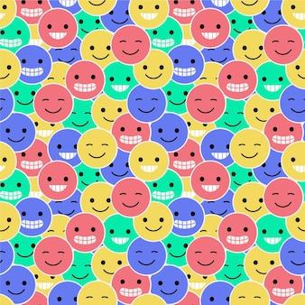 Modèle d'émoticônes de sourire coloré