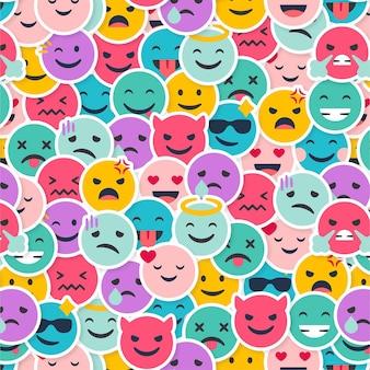 Modèle d'émoticônes de sourire créatif