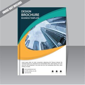 Modèle d'entreprise brochure dépliant pour la mise en page rapport annuel