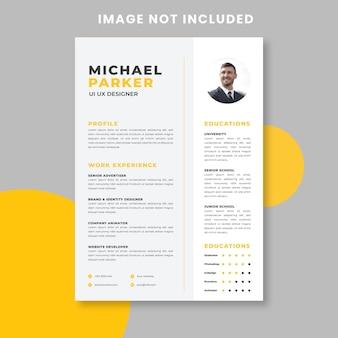 Modèle d'entreprise de cv minimaliste