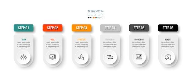Modèle d'entreprise infographique avec conception d'étape ou d'option.
