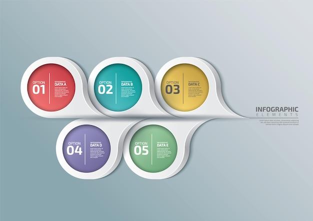 Modèle d'entreprise infographique dans le style de bulle de dialogue